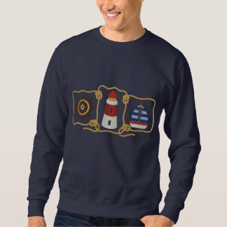 Nautical Scene Embroidered Sweatshirt