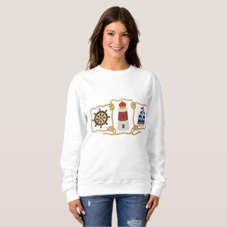 Nautical Scene Embroidered Sweatshirt