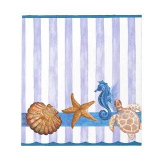 Nautical Sea Creatures Notepad