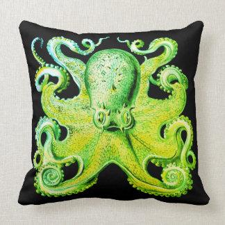 Nautical sea  Octopus decor pillow lime green