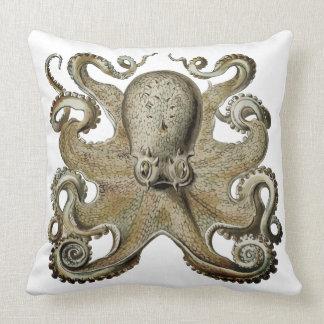 Nautical sea  Octopus decor pillow silver grey