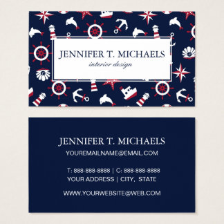 Nautical Sea Pattern Business Card