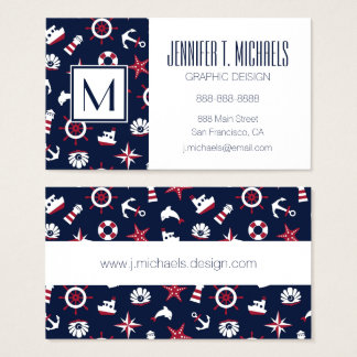 Nautical Sea Pattern Business Card