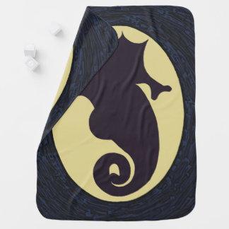 Nautical Seahorse Baby Blanket