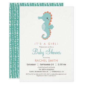 Nautical Seahorse Baby Shower Invitation