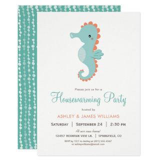 Nautical Seahorse Housewarming Party Invitation