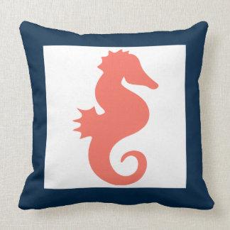 Nautical Seahorse Pillow