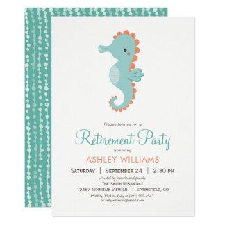 Nautical Seahorse Retirement Party Invitation