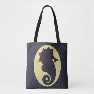 Nautical Seahorse Tote Bag