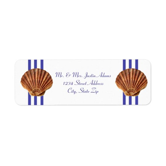Nautical Seashell - Address Labels