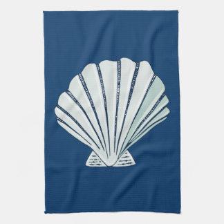 Nautical Seaside Shell Kitchen Towel