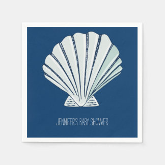Nautical Seaside Shell Paper Napkin