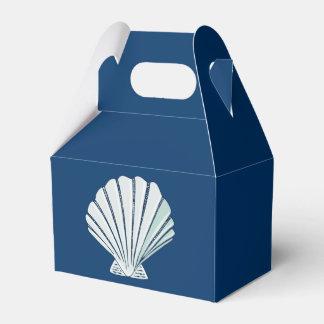 Nautical Seaside Shell Party Favor Box