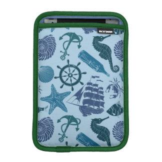 Nautical Shades Of Blue Pattern iPad Mini Sleeves
