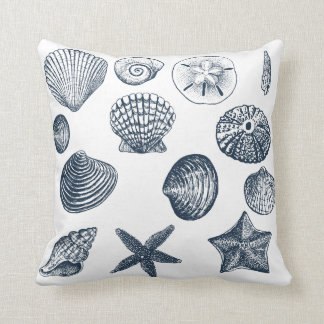 Nautical Shells Throw Pillow