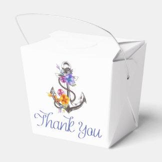Nautical Ship Anchor Floral Wedding Favor Party Favor Boxes