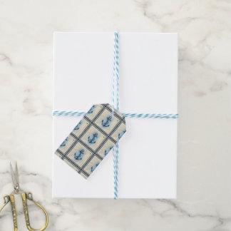 nautical ship anchor gift tags
