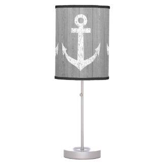 Nautical ship anchor print table lamp design