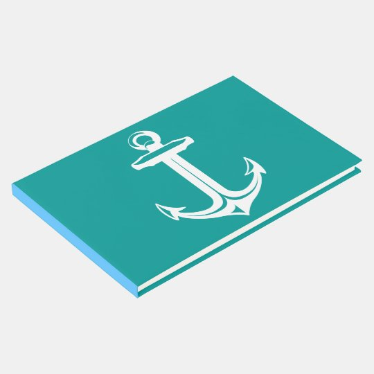Nautical Ship Anchor Teal Wedding, Bridal Shower Guest Book
