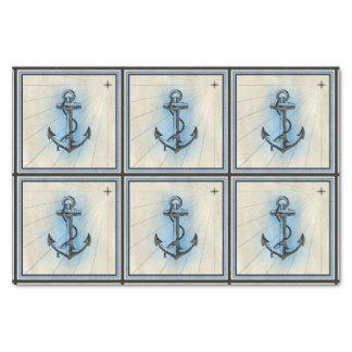 nautical ship anchor tissue paper