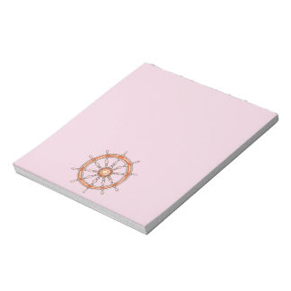 Nautical Ship Wheel 2 Notepad