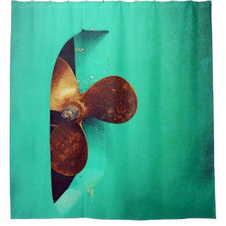 Nautical - Ship's Propeller Shower Curtain