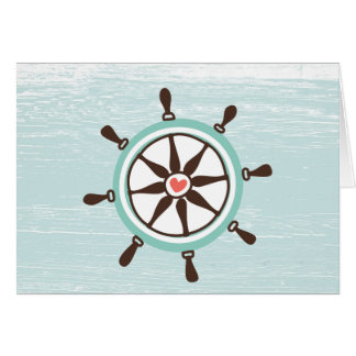 Nautical Ship's Wheel All Occasion Card