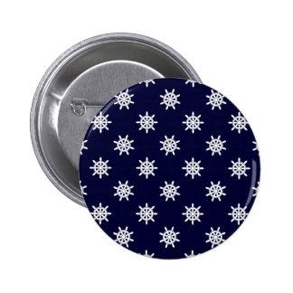 Nautical ship's wheel pattern 2 inch round button