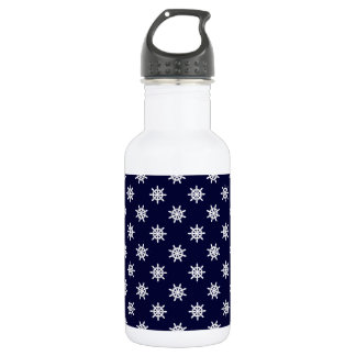 Nautical ship's wheel pattern 532 ml water bottle