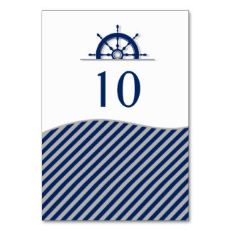 Nautical Ship's Wheel Table Number Cards