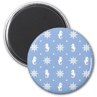 Nautical sky blue pattern magnet