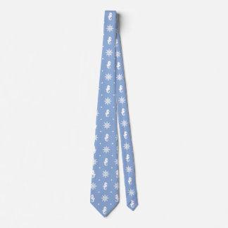 Nautical sky blue pattern tie