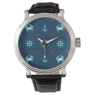 Nautical Star Pattern Wrist Watch