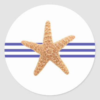 Nautical Starfish - Circle Sticker