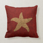 Nautical Starfish in Rustic Red and reverse