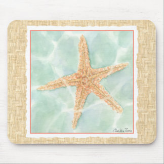 Nautical Starfish in Water Mouse Pad
