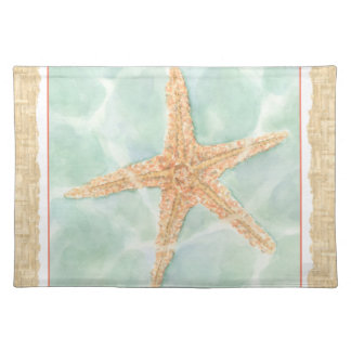 Nautical Starfish in Water Placemat