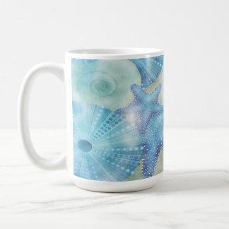 Nautical - Starfish Shells & Sand Coffee Mug