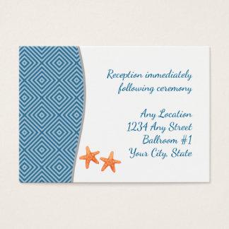 Nautical Starfish Wedding Reception Business Card