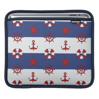 Nautical Stars And Stripes Pattern iPad Sleeves