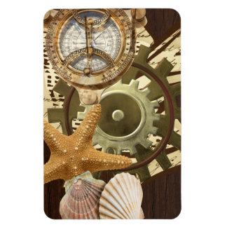 Nautical Steampunk Gears Rectangular Photo Magnet