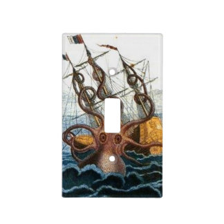 Nautical Steampunk Kraken Vintage Octopus Outlet Light Switch Cover
