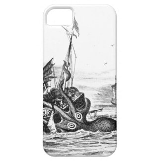 Nautical steampunk octopus vintage kraken drawing iPhone 5 cases