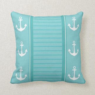 Nautical Stripe Design Throw Pillow