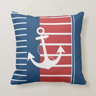 Nautical Stripe Design Throw Pillows