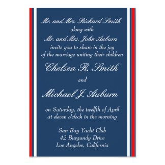 Nautical Stripe Invitation