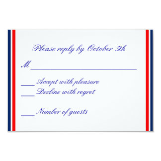 Nautical Stripe RSVP Card