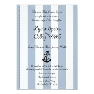 Nautical Stripe Wedding Announcement Edited