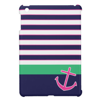 Nautical Stripes and Anchor iPad Mini Case