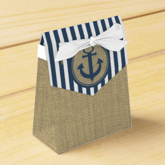 Nautical Stripes and Anchor Party Favor Boxes